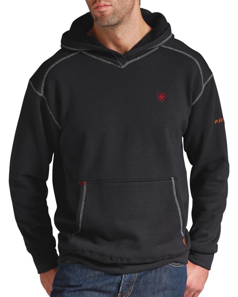 Ariat Men's Flame-Resistant Tek Hooded Work Sweatshirt - Big & Tall, Black, hi-res