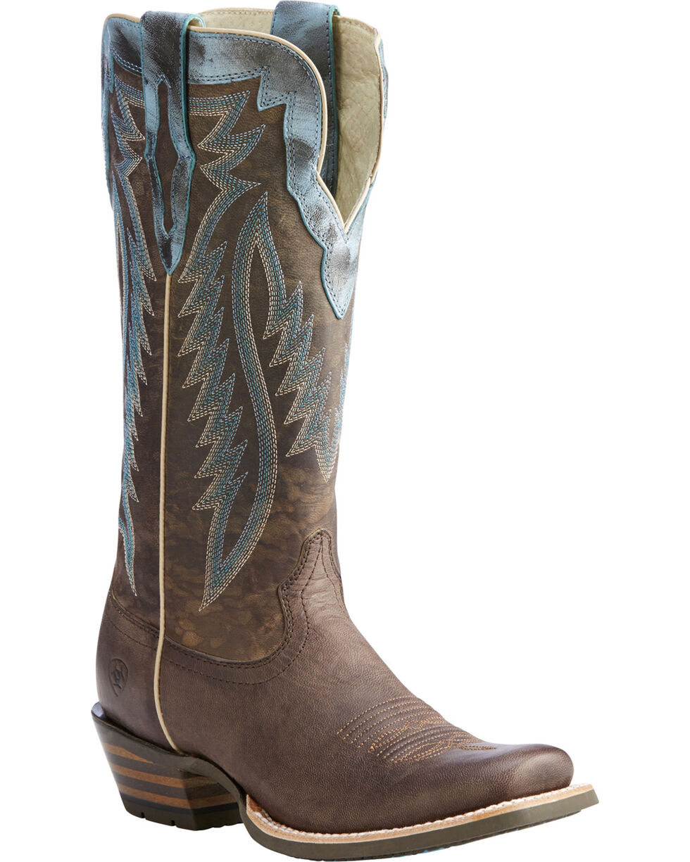 Ariat Women's Brown Futurity Buckaroo Western Boots - Square Toe , Brown, hi-res