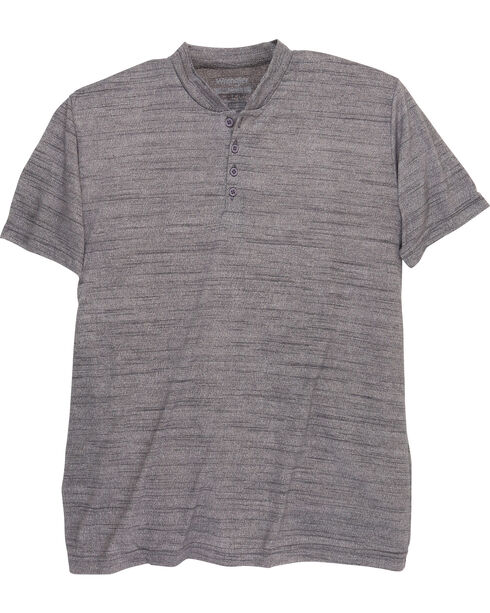 Wrangler Men's Riggs Workwear Short Sleeve Henley Shirt - Big and Tall , Charcoal, hi-res