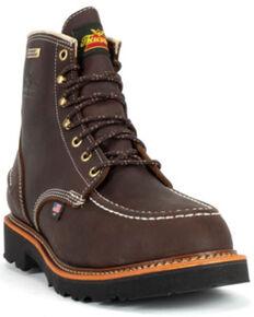 Thorogood Men's Flyway USA Waterproof Work Boots - Soft Toe, Brown, hi-res