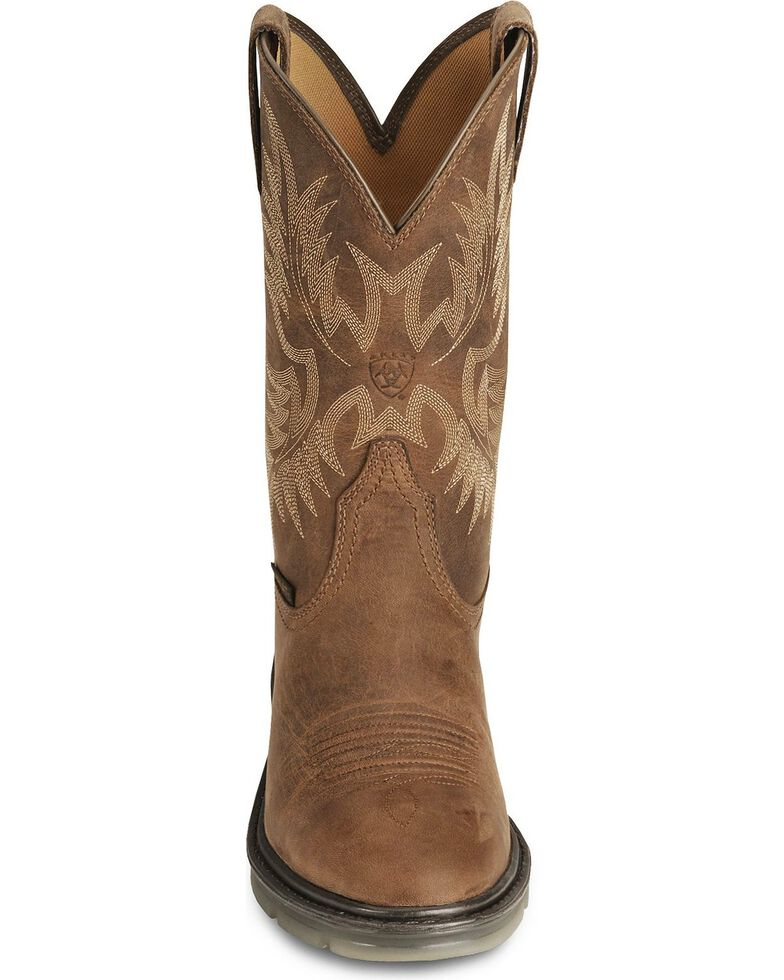 Ariat Brown Maverick II Pull-On Work Boots - Soft Toe, Brown, hi-res