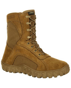 Rocky Men's S2V Waterproof Insulated Military Boots - Round Toe, Taupe, hi-res