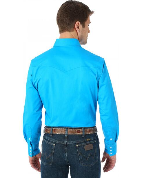 Men's Wrangler Advanced Comfort Work Shirt, Blue, hi-res