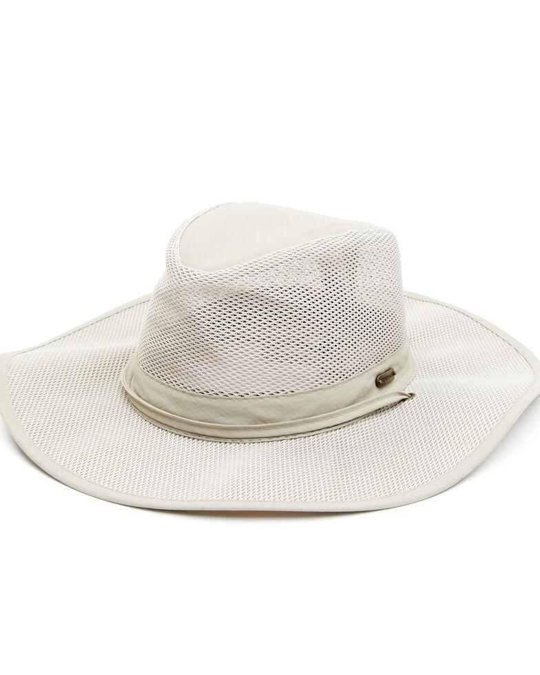 Stetson Men's Khaki NFZ Mesh Afari Breezer Sun Hat , Beige/khaki, hi-res