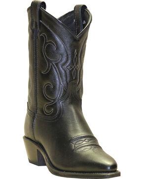 Abilene Boots Women's Soft Textured Short Western Boots - Snip Toe, Black, hi-res