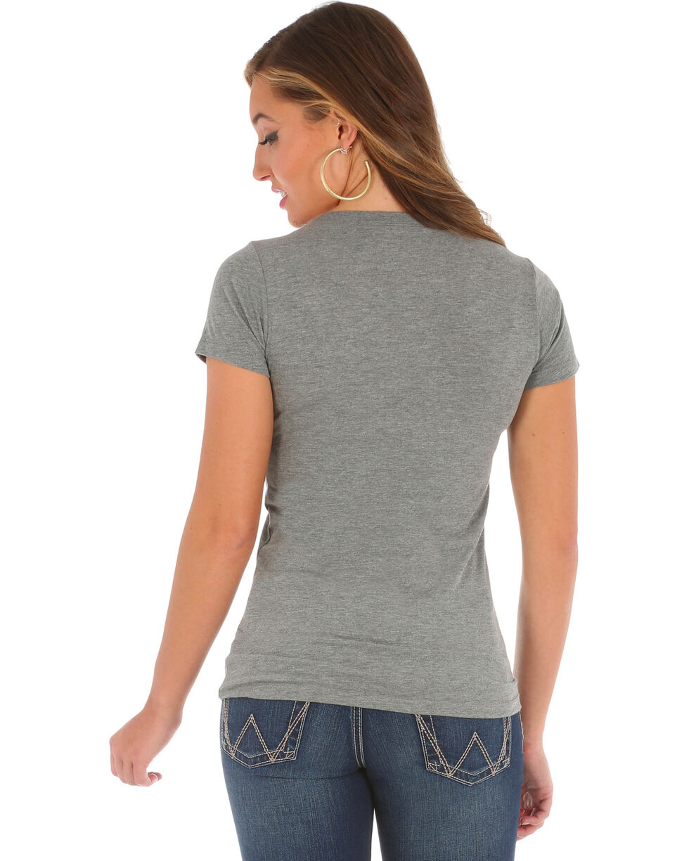 Wrangler Women's Short Sleeve Daddy Graphic Tee, Grey, hi-res