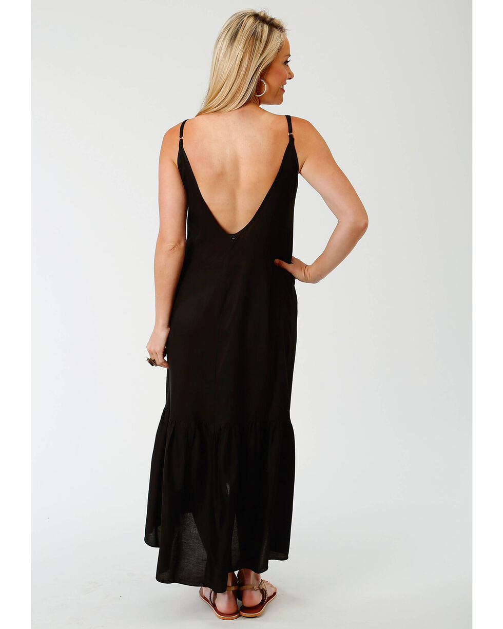 Roper Women's Black Embroidered Maxi Dress, Black, hi-res