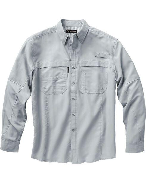 Dri Duck Men's Catch Long Sleeve Shirt, Grey, hi-res