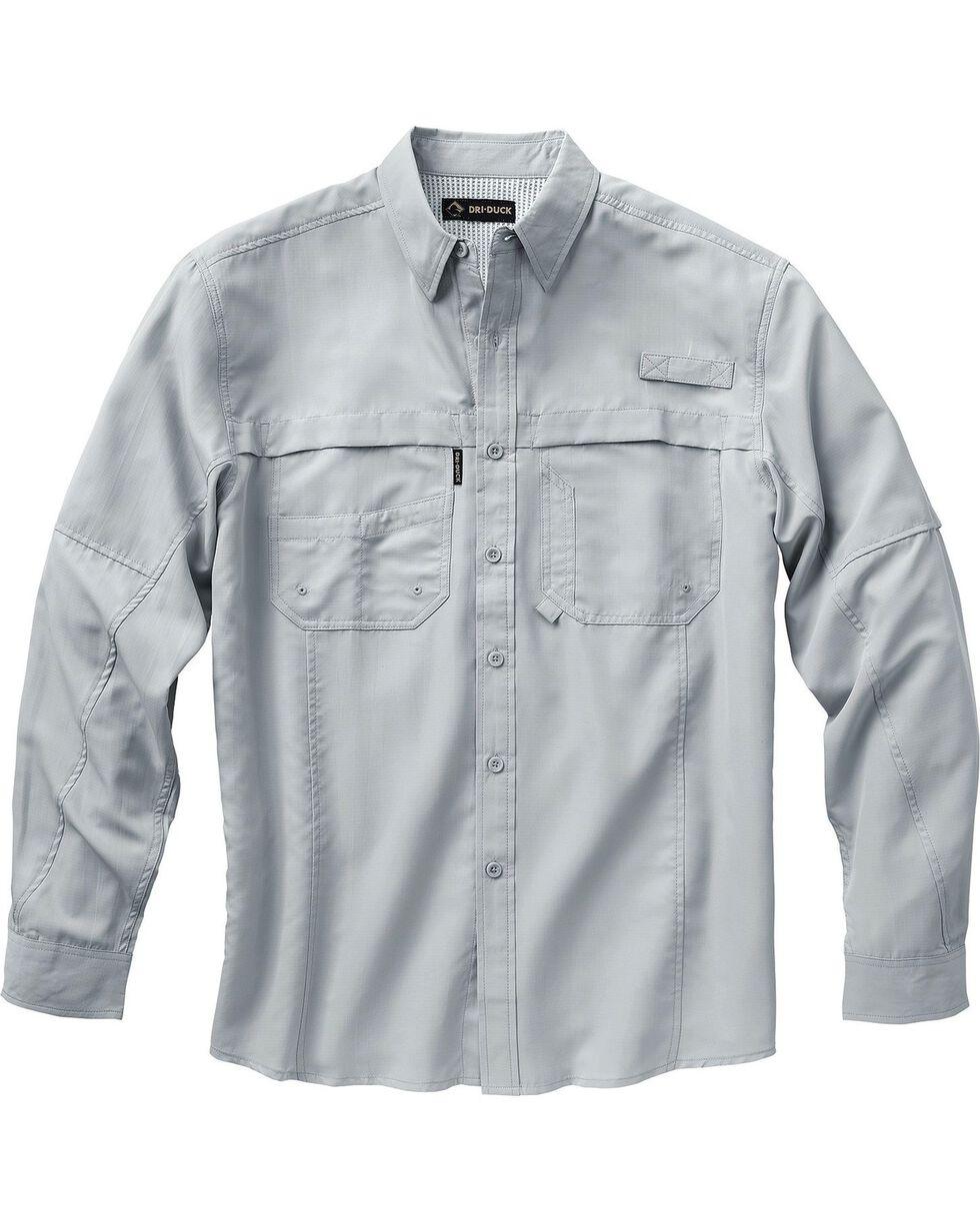 Dri Duck Men's Catch Long Sleeve Shirt - 3X & 4X, Grey, hi-res
