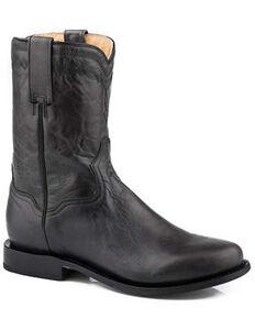 Roper Men's Roderick Western Boots - Round Toe, Black, hi-res