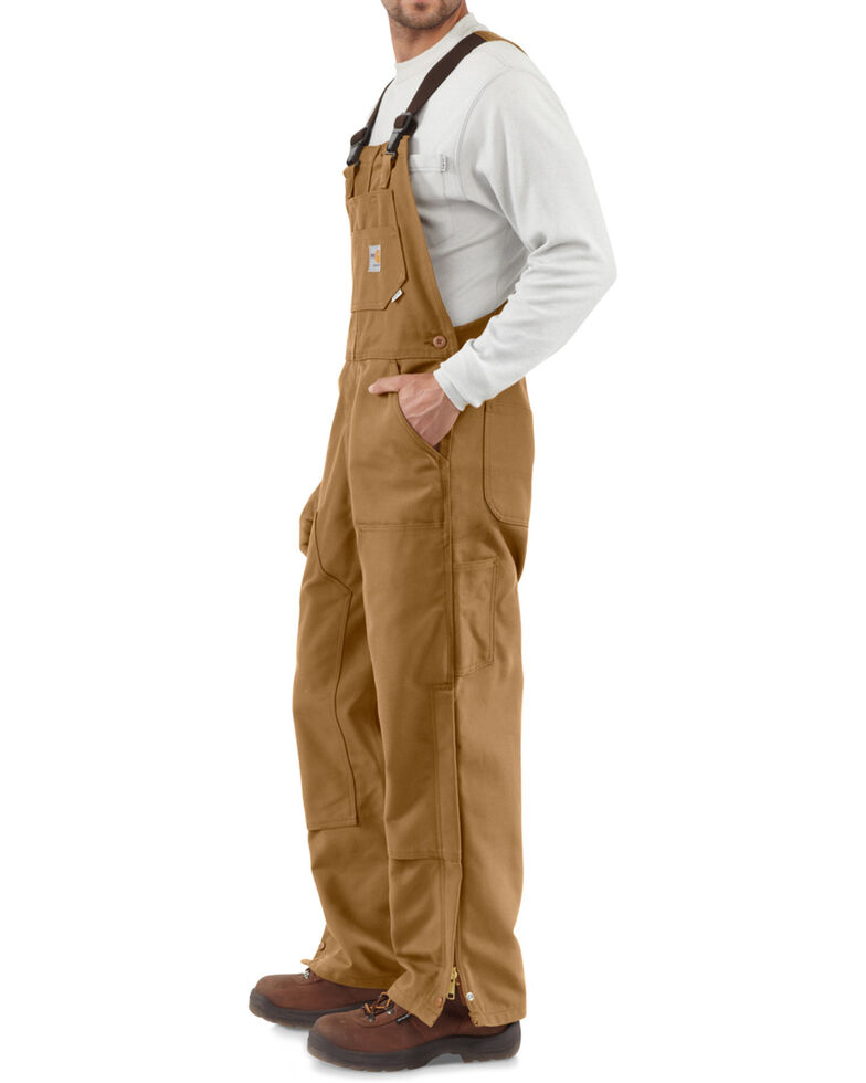 Carhartt Men's Flame-Resistant Duck Bib Overalls - Big & Tall, Carhartt Brown, hi-res