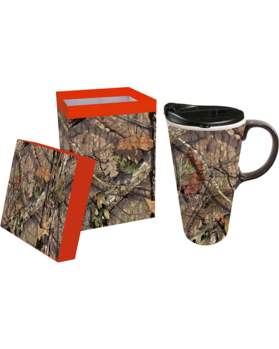 Evergreen Camo Mug and Lid, No Color, hi-res