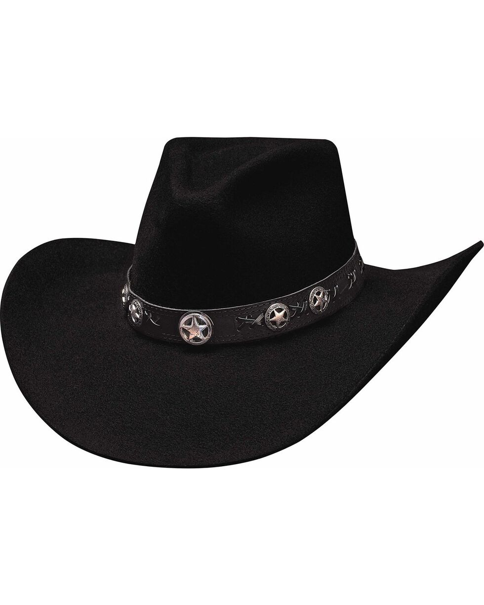 Bullhide Star Studded 4X Premium Wool Cowgirl Hat, Black, hi-res