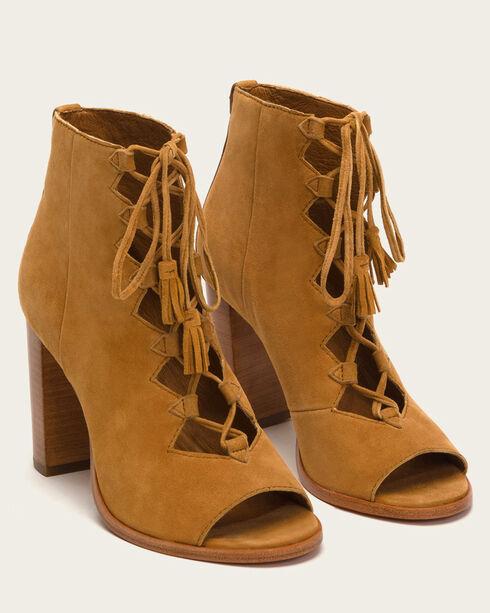 Frye Women's Camel Gabby Ghille Heels - Open Toe , Camel, hi-res