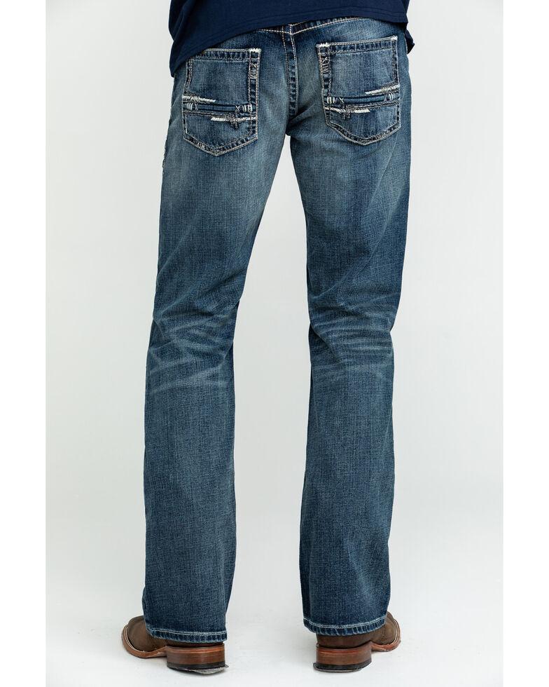 Ariat Men's M5 Lennox Stretch Slim Bootcut Jeans - Big , Blue, hi-res