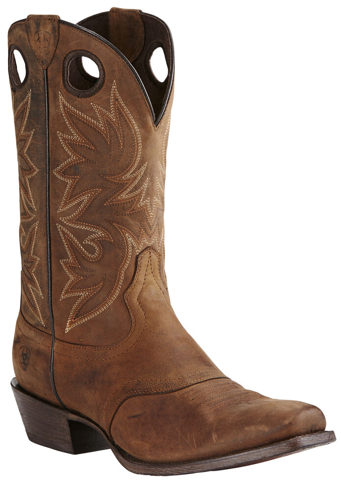 Ariat Men's Circuit Striker Boots - Square Toe, Dark Brown, hi-res