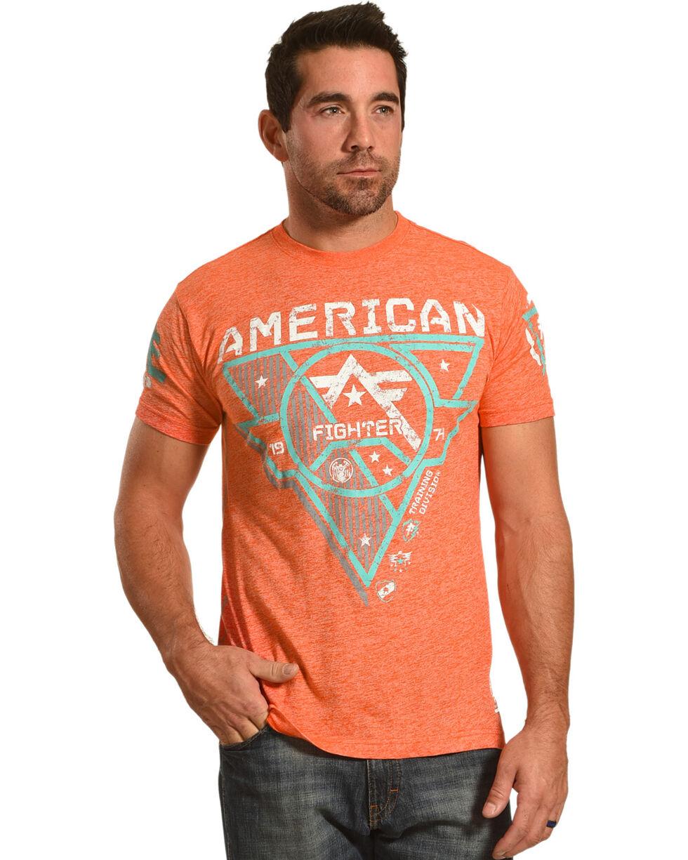 American Fighter Men's Orange Beckett Tee , Orange, hi-res