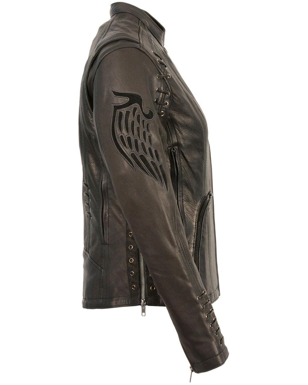Milwaukee Leather Women's Lightweight Scuba Racer Jacket - 3X, Black, hi-res