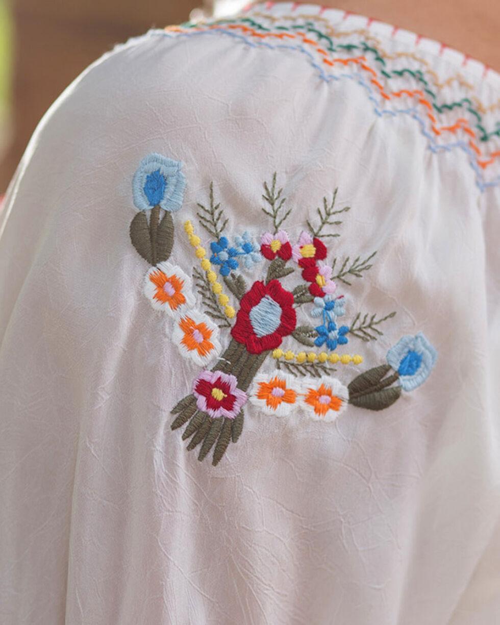 Ryan Michael Women's Embroidered Fiesta Tunic, White, hi-res