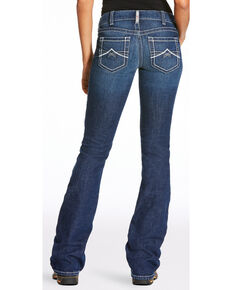 Ariat Women's FR Crossing Volta 2 Slim Bootcut Jeans , Dark Blue, hi-res