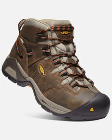 Keen Men's Detroit XT Waterproof Work Boots - Soft Toe, Brown, hi-res