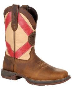 Durango Men's Florida State Flag Western Boots - Square Toe, Brown, hi-res