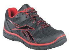 Reebok Men's Sport Grip Shoes - Composite Safety Toe, Black, hi-res