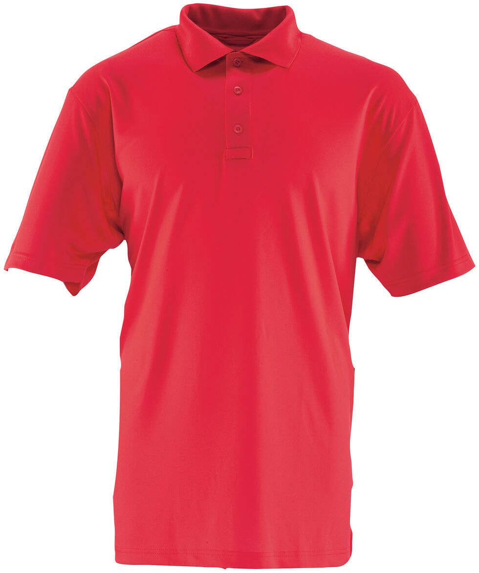 Tru-Spec Men's 24-7 Series Short Sleeve Performance Polo Shirt - Extra Large (2XL - 5XL), Red, hi-res