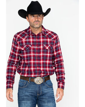 Cody James Men's Logger Family Plaid Long Sleeve Western Shirt , Red, hi-res