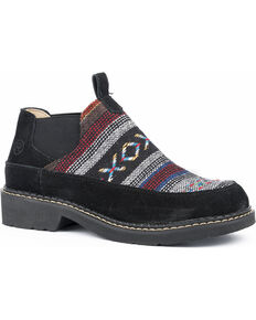 42457bf7fb42 Roper Womens Isabel Aztec Fabric Suede Slip On Shoes - Round Toe