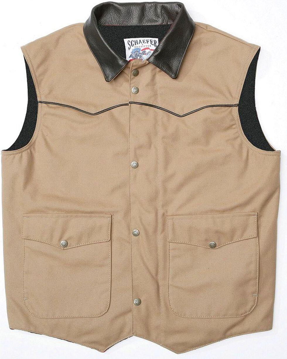 Schaefer Cattleman Canvas Vest, Saddle Brown, hi-res
