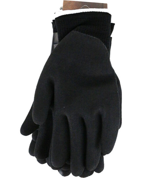 Carhartt Men's Black 3-Pack Thermal Nitrile Dipped Gloves , Black, hi-res