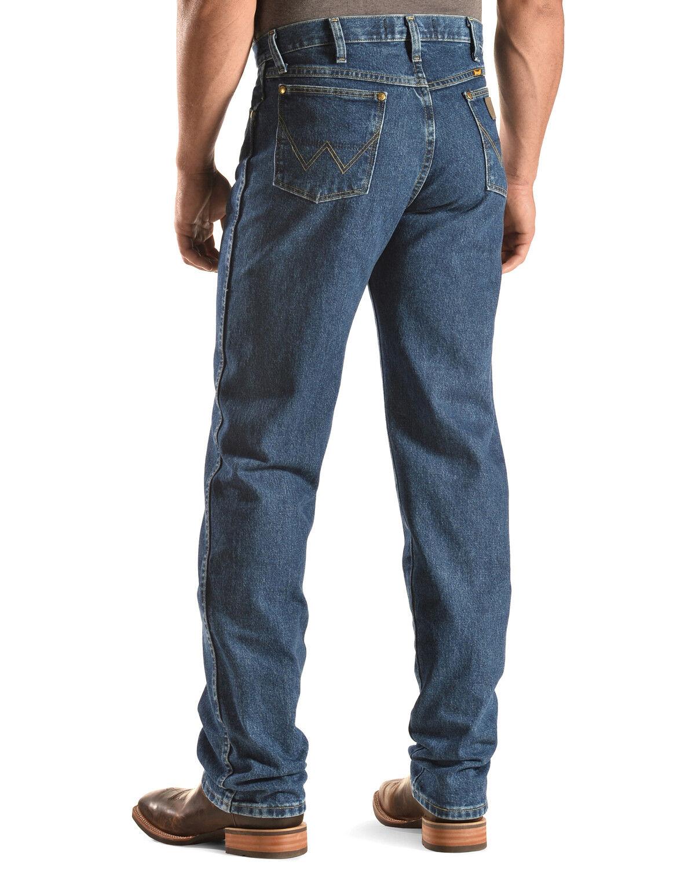 Mens Strait Cowboy Cut Original Fit Jean Comfy Stretch Skinny Denim Jeans Work Pants
