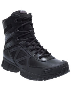 "Bates Men's 8"" Velocitor Waterproof Work Boots - Soft Toe, Black, hi-res"