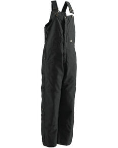 Berne Brown Duck Deluxe Insulated Bib Overalls - Short, Black, hi-res