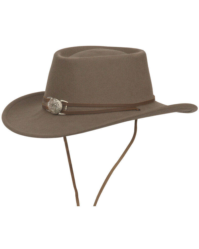 Silverado Unisex Dusty Crushable Wool Western Hat, Mushroom, hi-res