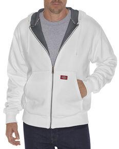 Dickies Midweight Fleece Zip-Up Hooded Work Jacket, White, hi-res