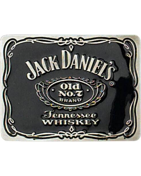 Western Express Men's Black Jack Daniels Old No 7 Belt Buckle , Black, hi-res