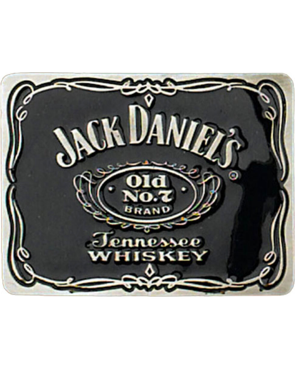 Western Express Men's Black Jack Daniels Old No 7 Belt Buckle , Black, hi-res
