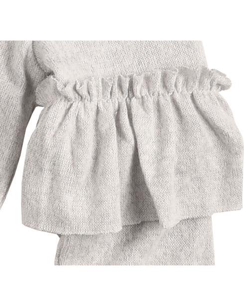Derek Heart Girls' White Ruffle Detail Long Sleeve Sweater, White, hi-res
