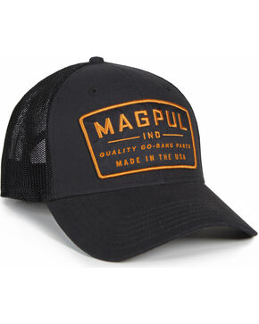 Magpul Men's Go Bang Mid Crown Snapback Baseball Cap , Black, hi-res