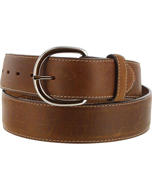 Silver Creek Men's Brown Classic Western Leather Belt , Brown, hi-res