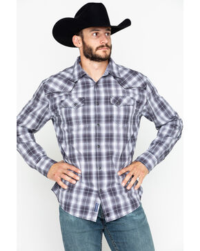 Moonshine Spirit Men's Plaid Garage Band Long Sleeve Western Shirt, Grey, hi-res