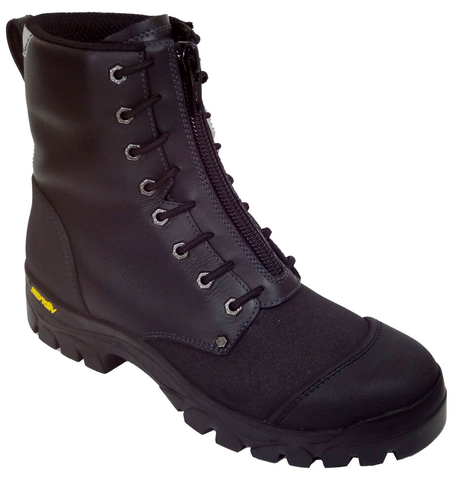 Twisted X Men's Flame-Resistant Waterproof Lace-Up Work Boots - Steel Toe , Black, hi-res