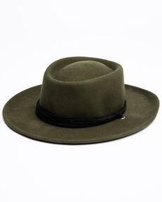 Shyanne Women's Moss Green Wool-Felt Gambler Hat, Moss Green, hi-res