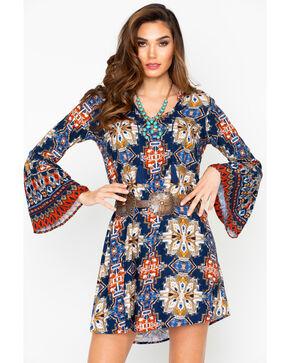Ariat Women's Print Alton Bell Sleeve Dress , Multi, hi-res