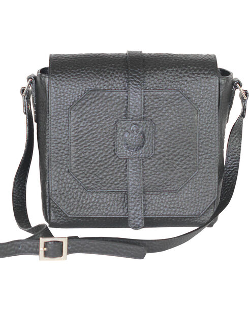 Designer Concealed Carry Black Cubic Crossbody Bag, Black, hi-res