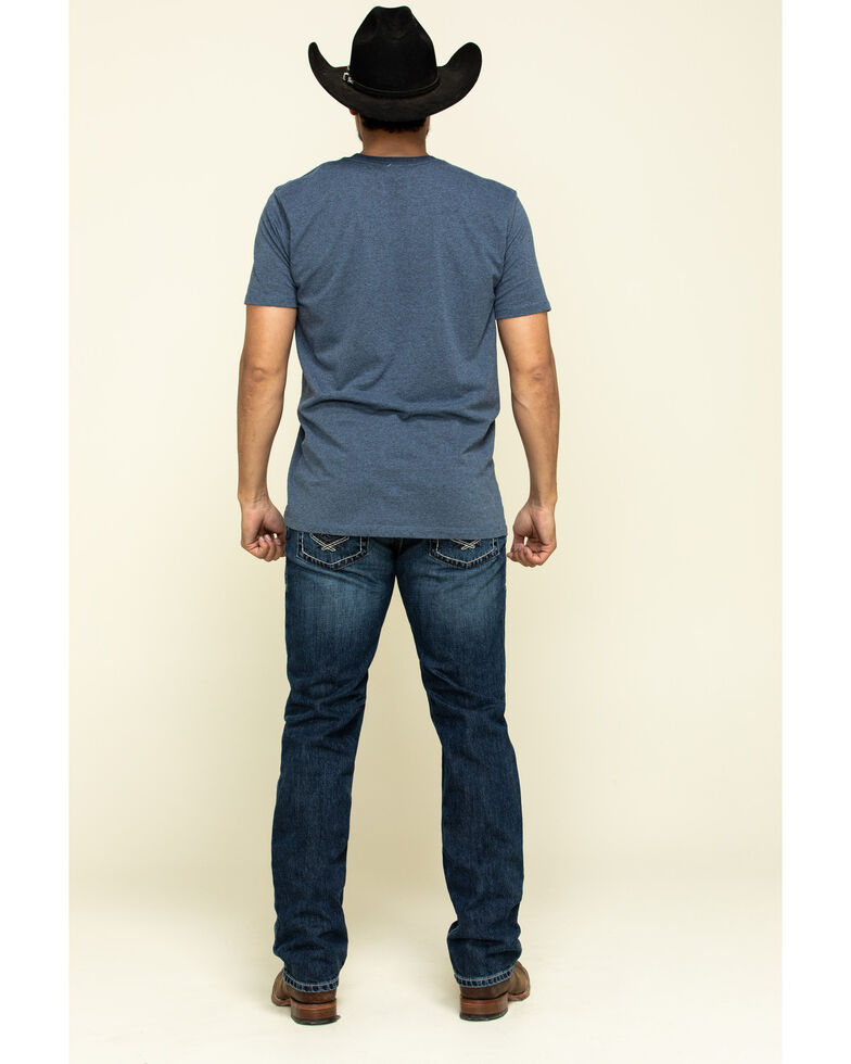 Ariat Men's M4 Bradford Hooper Stretch Stackable Relaxed Straight Jeans , Blue, hi-res
