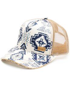 Cruel Girl Women's Cream Aztec Print Mesh-Back Trucker Cap , Cream, hi-res