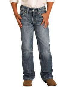 Rock & Roll Denim Boys' Medium Vintage Regular Bootcut Jeans , Indigo, hi-res